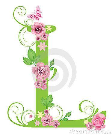 Letra L con las rosas