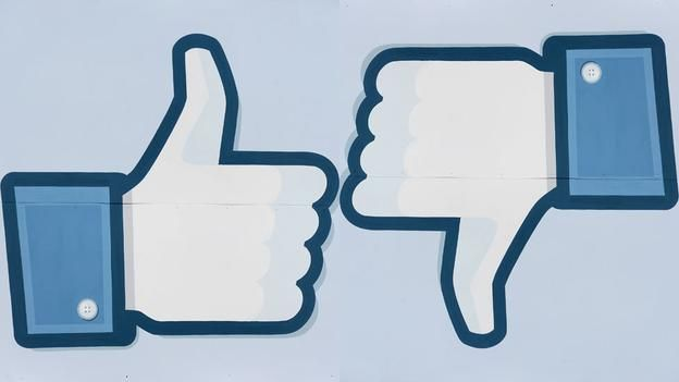 Facebook like and 'dislike' logo (Copyright: Getty Images):