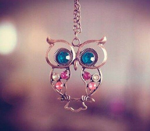 you can never have too many owl necklaces. okay you might but I just love em!