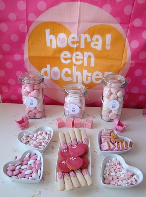 Candytable Kraamfeest (15-20 pers.)