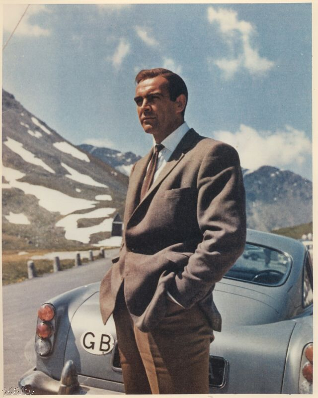 Goldfinger with James Bond and the Aston Martin DB5.