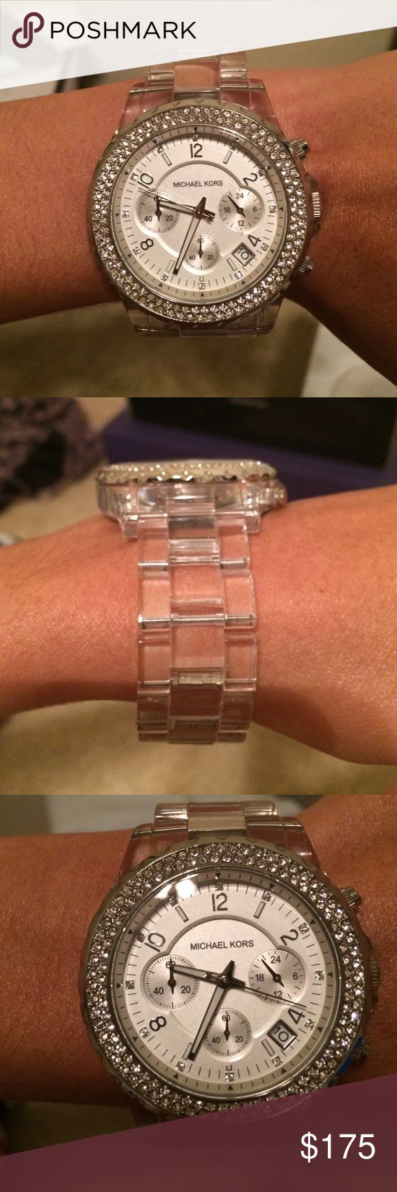 New Michael Kors Watch New Michael Kors Watch! In perfect condition. Got it for a birthday gift and maybe wore it once and has been sitting in my closet since! It was bought from Saks and is sold out everywhere!!! Michael Kors Accessories Watches