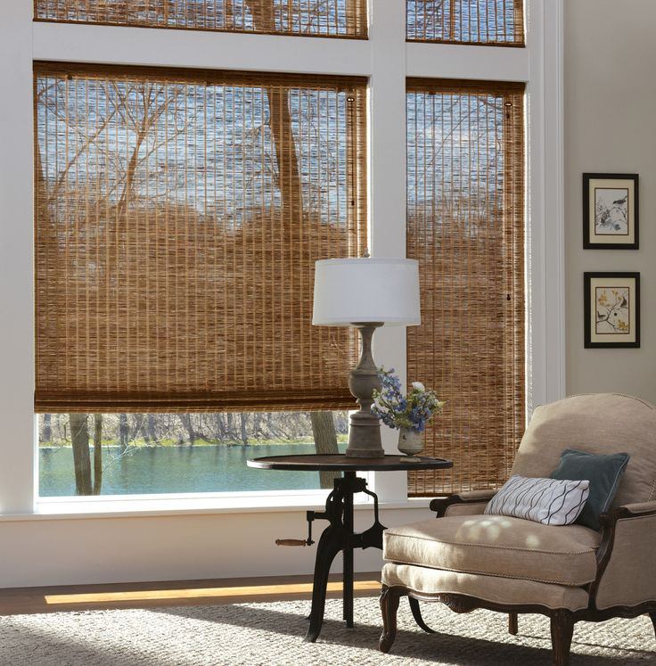 Window Treatments For Large Windows With Natural Material Shades Google Search More