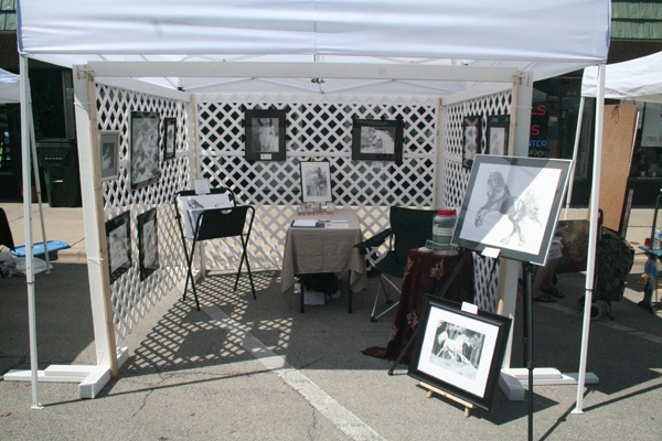 Lattice Art Show Booths Art Fair Craft Fair Displays