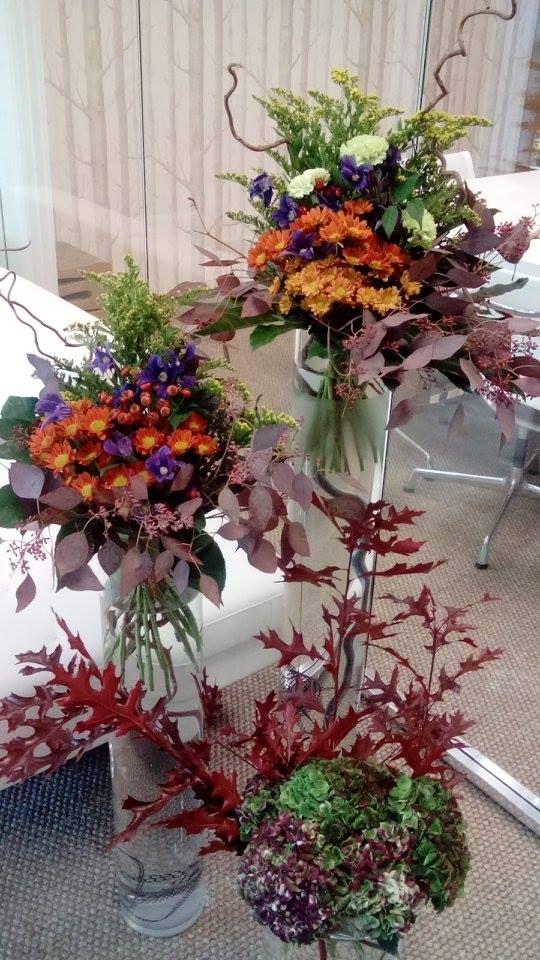 Colourful autumn / fall flower arrangements by ROSMARINO / Pestrobarevné podzimní květinové aranže