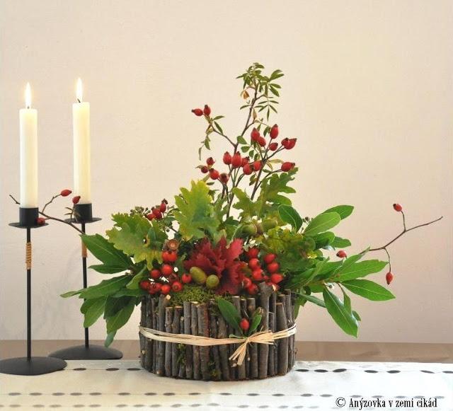 DIY - Automnal decoration. Podzimní aranžmá na stůl