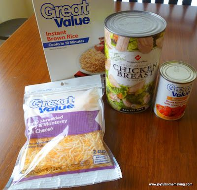 Joyful Homemaking: Super Easy Adobe Chicken Casserole  Forget the canned chicken! Cook some yourself.