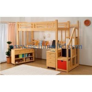 Tempat Tidur Anak Tingkat produk dipan anak dengan model yang cantik dengan dilengkapi meja belajar pada bawahnya. Tempat Tidur Anak Model Tingkat mempunyai kualitas terbaik dari mebel jepara.