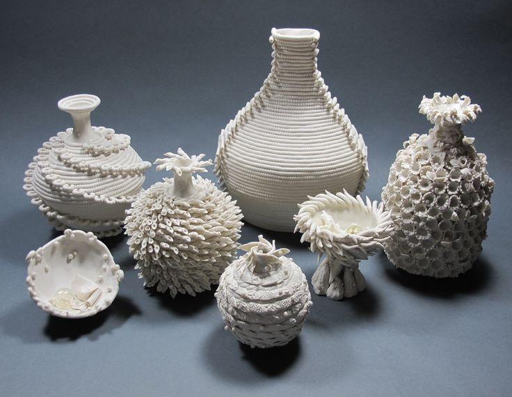 Ceramic coil vase