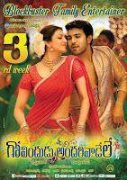 Ram Charan Govindudu Andarivadele Movie 3rd Week Posters, Mega Powerstar Ram Charan, Kajal Agarwal starrer Govindudu Andarivadele successfully e