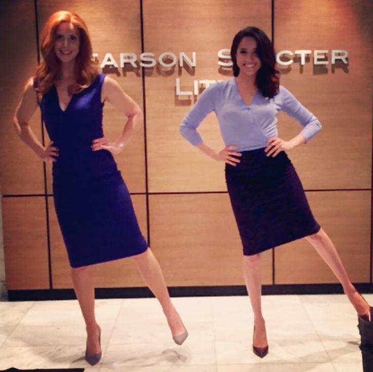 Meghan Markle and Sarah Rafferty #Suits