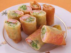かにかまとキャベツの春巻き : 料理・レシピ :料理家のレシピならミスビット