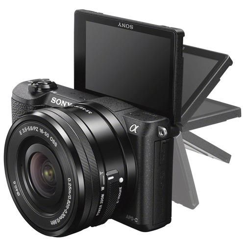 Sony Alpha A5100 24 3mp Hd 1080p Mirrorless Digital Camera With 16 50mm Lens Black In 2021 Camera With Flip Screen System Camera Vlogging Camera