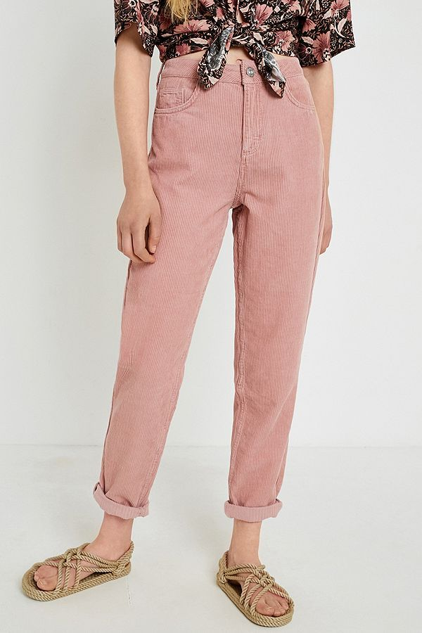 0d4f62d7 BDG Mom Dusty Pink Corduroy Jeans | Fashion | Mom jeans outfit, Pink ...