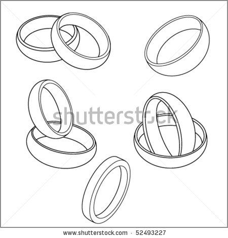 The vector image of wedding rings by PhotoNAN, via Shutterstock
