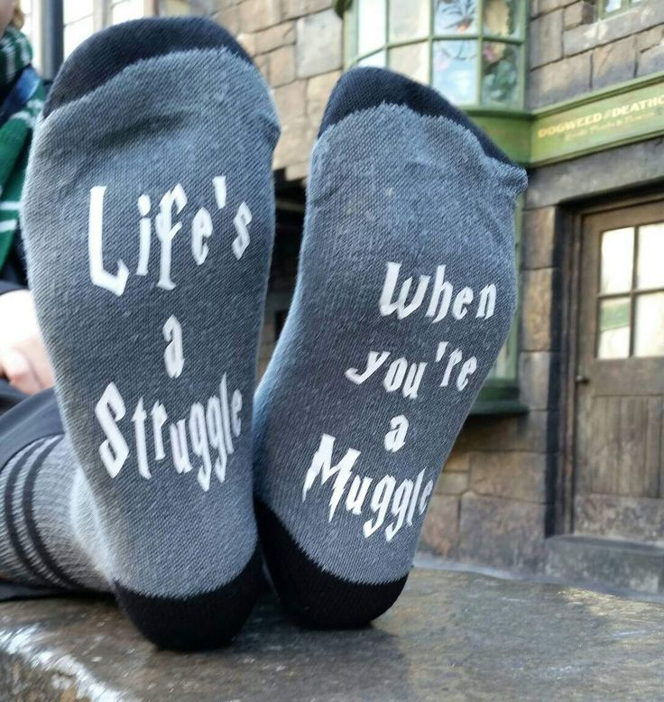 Life's a struggle when you're a muggle, Harry Potter socks, novelty socks,men's and womens, Harry potter quote, hogwarts wizard, quidditch by MoonChildCraftsShop on Etsy https://www.etsy.com/au/listing/502636736/lifes-a-struggle-when-youre-a-muggle