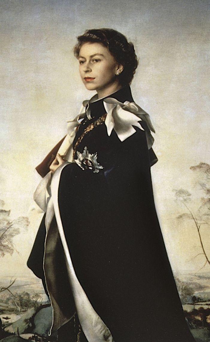Ritratto della Regina Elisabetta II d'Inghilterra, 1955  > I don't think I've ever seen this before