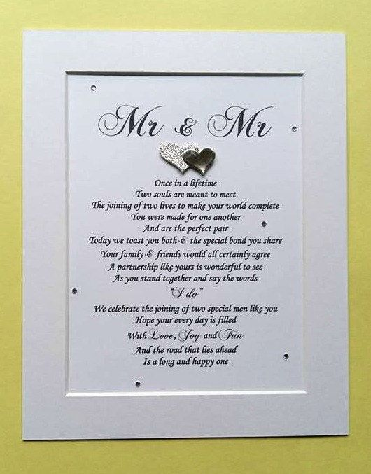 Check out this item in my Etsy shop https://www.etsy.com/uk/listing/489721197/gay-wedding-gift-gay-couple-mr-and-mr