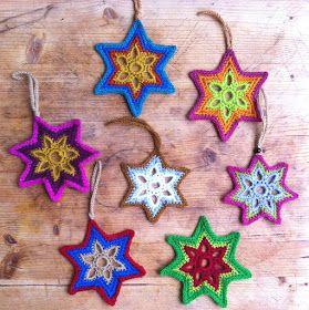 Crochet Christmas Star + Diagram + Free Pattern