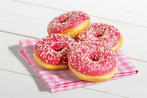 Donut aardbei