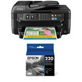 #10: Epson WorkForce WF-2760 All-in-One Wireless Color Printer with Scanner Copier Fax Ethernet Wi-Fi Direct and NFC  Black Ink Bundle