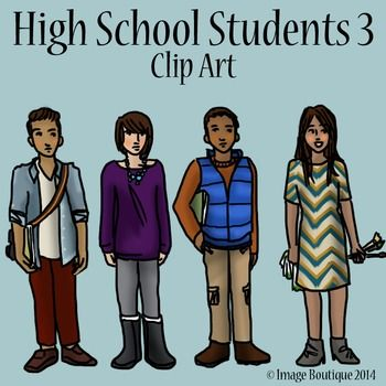 High school students, Clip art and High schools on Pinterest