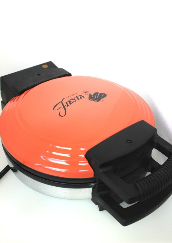 Vintage Fiesta Waffle Maker  New in Box Color by DecorateInVintage