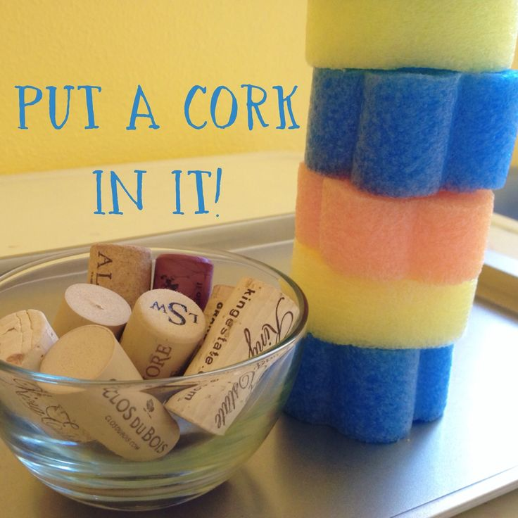Upcycle some wine corks to make a great fine motor activity for kids!