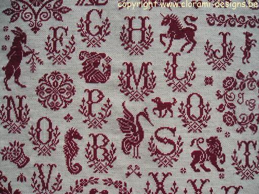 Marquoir au point de croix - Sajou Sampler - www.clorami-designs.be