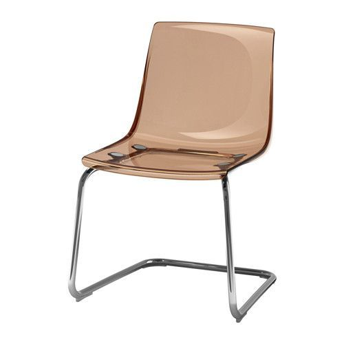 IKEA TOBIAS Chair Brown/chrome-plated You sit comfortably thanks to the restful flexibility of the seat and back.