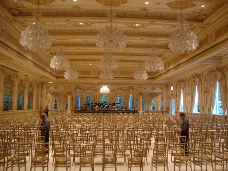 Mar A Lago Grand Ballroom Golden Tones Pinterest