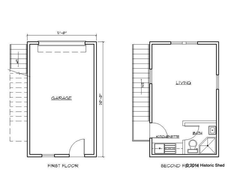 49 best images about garage apt on pinterest car garage for Guest apartment floor plans