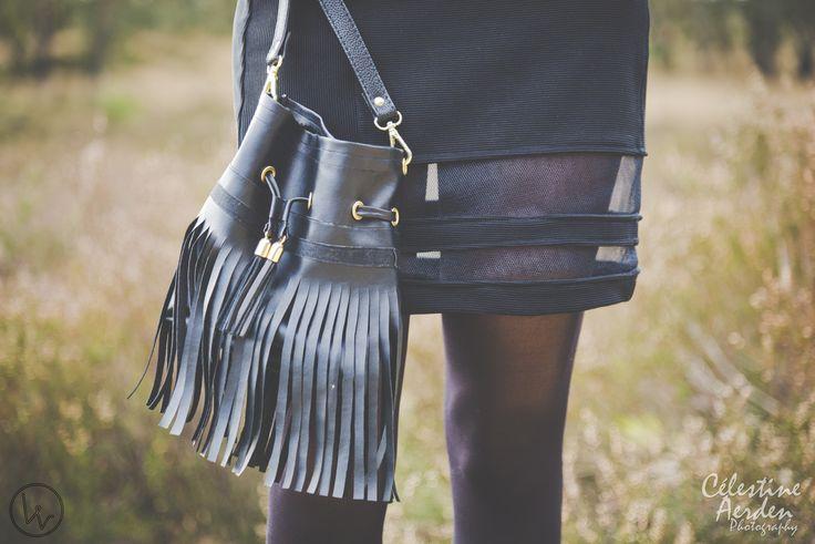 DIY fringe bag / Louvintage / spring 2014 / inspo: Valentino, Gucci, Céline  © Célestine Aerden Photography https://www.facebook.com/PhotographyCelestineAerden