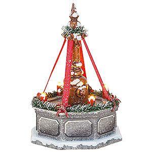 Winterkinder Stadtbrunnen, elektrisch beleuchtet (12cm) von Hubrig Volkskunst