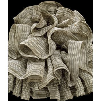 1870 - 1875 horsehair layered, bustle, V & A: