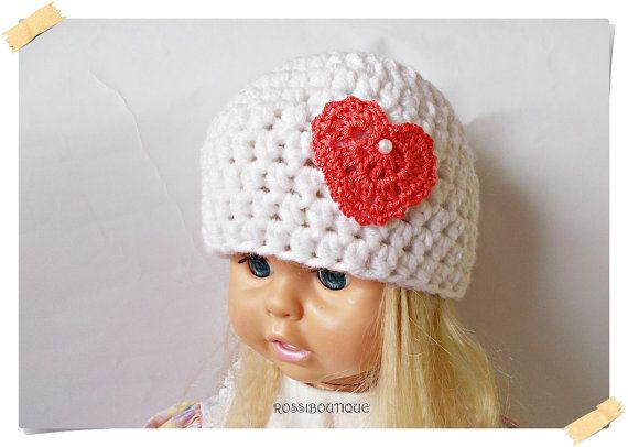 Crochet Baby hat, White baby hat, Baby hat, Crochet girl hat, Kids hat, Crochet toddler hat, Newborn hat, baby hat, Newborn baby Photo Prop