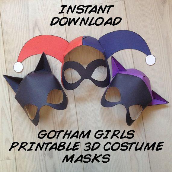 Gotham Girls Inspired 3D Printable Masks by MissFrightsDelights