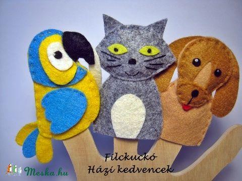 Filc ujjbáb csomag -  Házi kedvencek (Filckucko) - Meska.hu