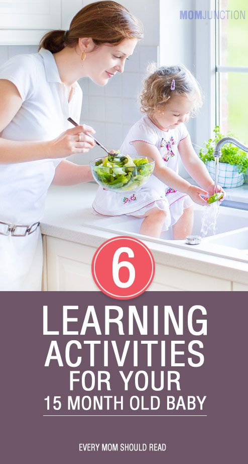 Thinking what you can do to stay calm when she/he throws a tantrum & offer her cuddles to comfort her. Here are 6 learning activities for 15 month old baby.