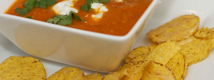 Mexicaanse soep met Tortilla chips