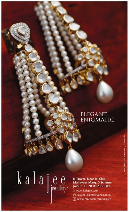 #Elegant and #enigmatic! This fascinating pair of dangling #earrings is just perfect to steal all the attention in coming #wedding season!