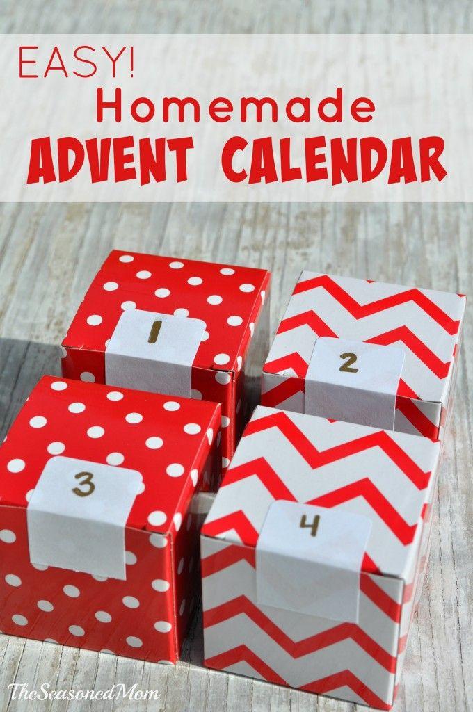 Easy Homemade Advent Calendar - The Seasoned Mom                                                                                                                                                                                 More