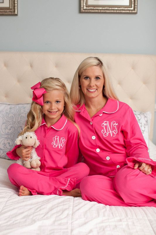 """Pre Order ST """"Girl's"""" Fuchsia Button Down Loungewear – Southern Tots"""