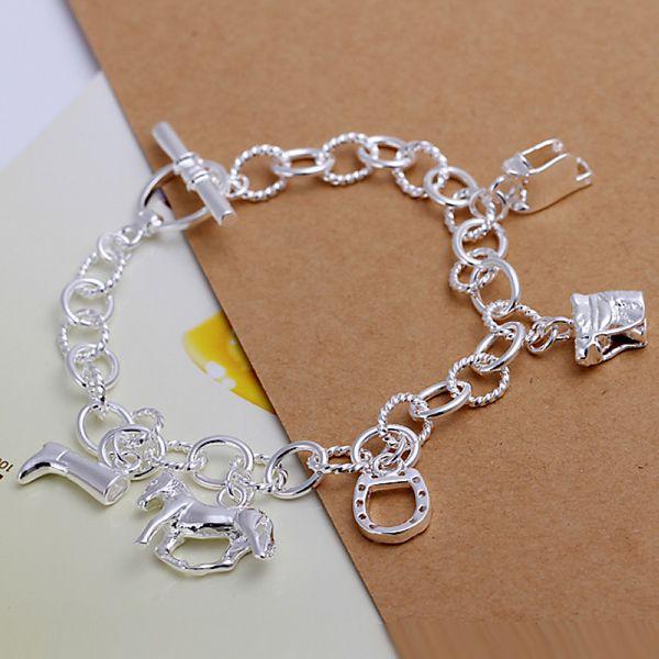 Cute little pendant bracelet Wholesale jewelry 925  silver Fashion Jewelry charm bracelets&bangle CH074 #Affiliate