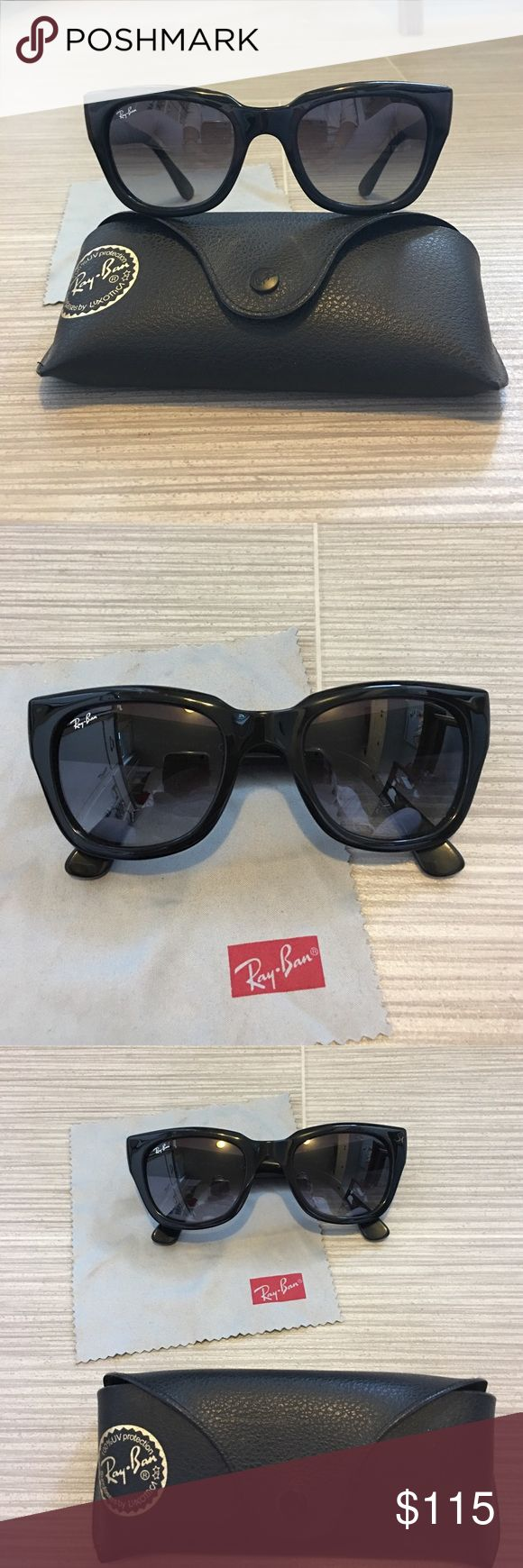 Ray Ban Cat Eye style Wayfarers Ray Ban Cat Eye style Wayfarers. Perfect condition. Black frames. Style no longer made. Ray-Ban Accessories Sunglasses