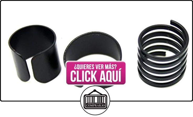 Juego de 3 anillos de metal negro ajustables, amplio, dedo medio, nudillo, pulgar  ✿ Joyas para mujer - Las mejores ofertas ✿ ▬► Ver oferta: https://comprar.io/goto/B01BHF80SK