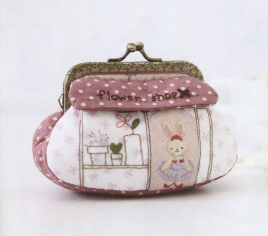 Flower shop coin purse Bag Handbag Wallet hand embroidery stitch sewing applique patchwork quilt PDF E Patterns. $5.00, via Etsy.