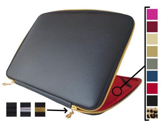 Black Leather Laptop Case 14 Inch Laptop Sleeve 14 Inch Etsy Leather Laptop Sleeve Leather Macbook Case Macbook Pro 13 Case