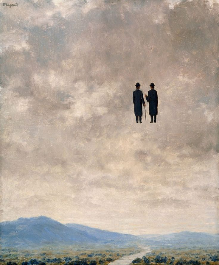 """ René Magritte (Belgium, 1898-1967): The Art of Conversation (L'Art de la Conversation), 1963.  """