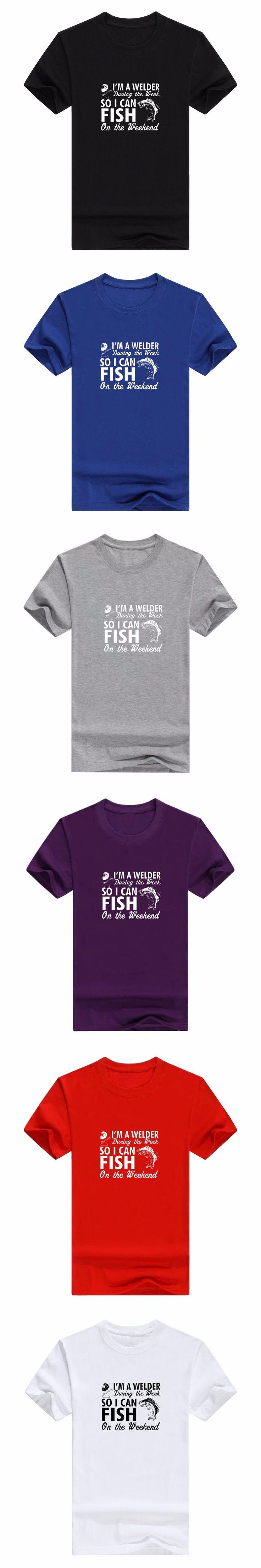 men's casual t-shirt folder tshirt design supplies Welder Gift So I Can Fish on the Weekend Premium men's T-shirt